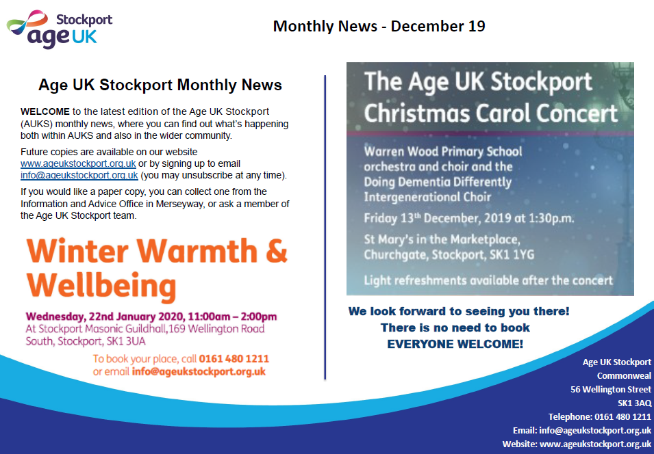 Welcome to Age UK Stockport