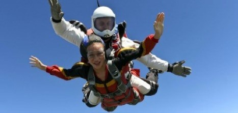 Parachute jump fundraising for Age UK Barnet
