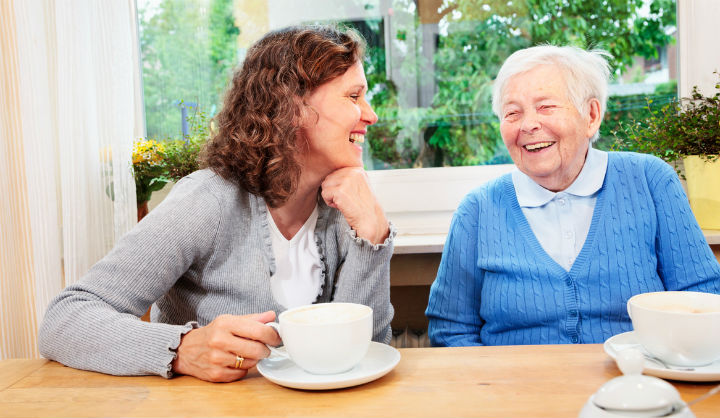Two women chatting Age UK Barnet befriending