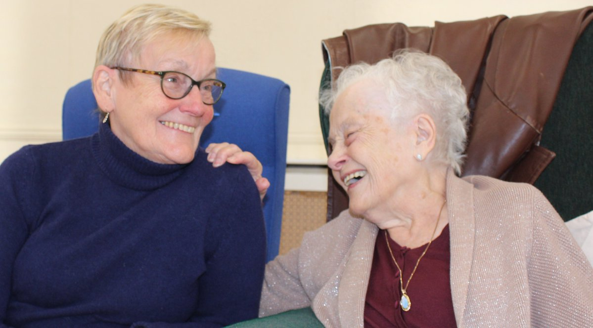 Ann Denham and Betty Floyd at the Day Centre