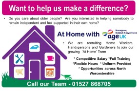 Join Age UK BRWF At Home Team