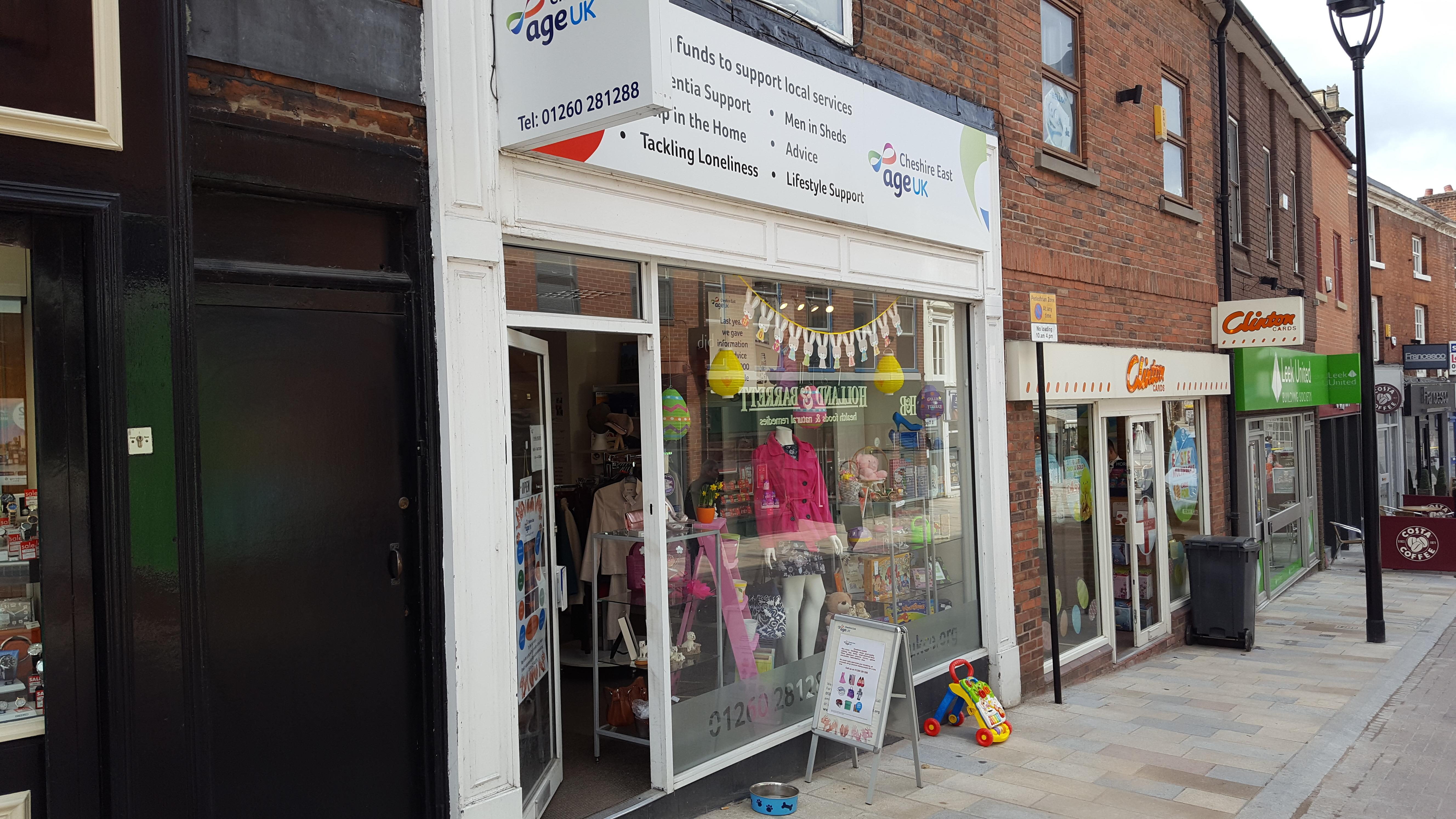Charity takes decision to close its Congleton town centre shop
