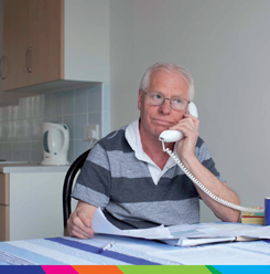A man on the phone to give advice