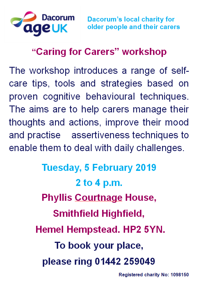 caring for carers workshop