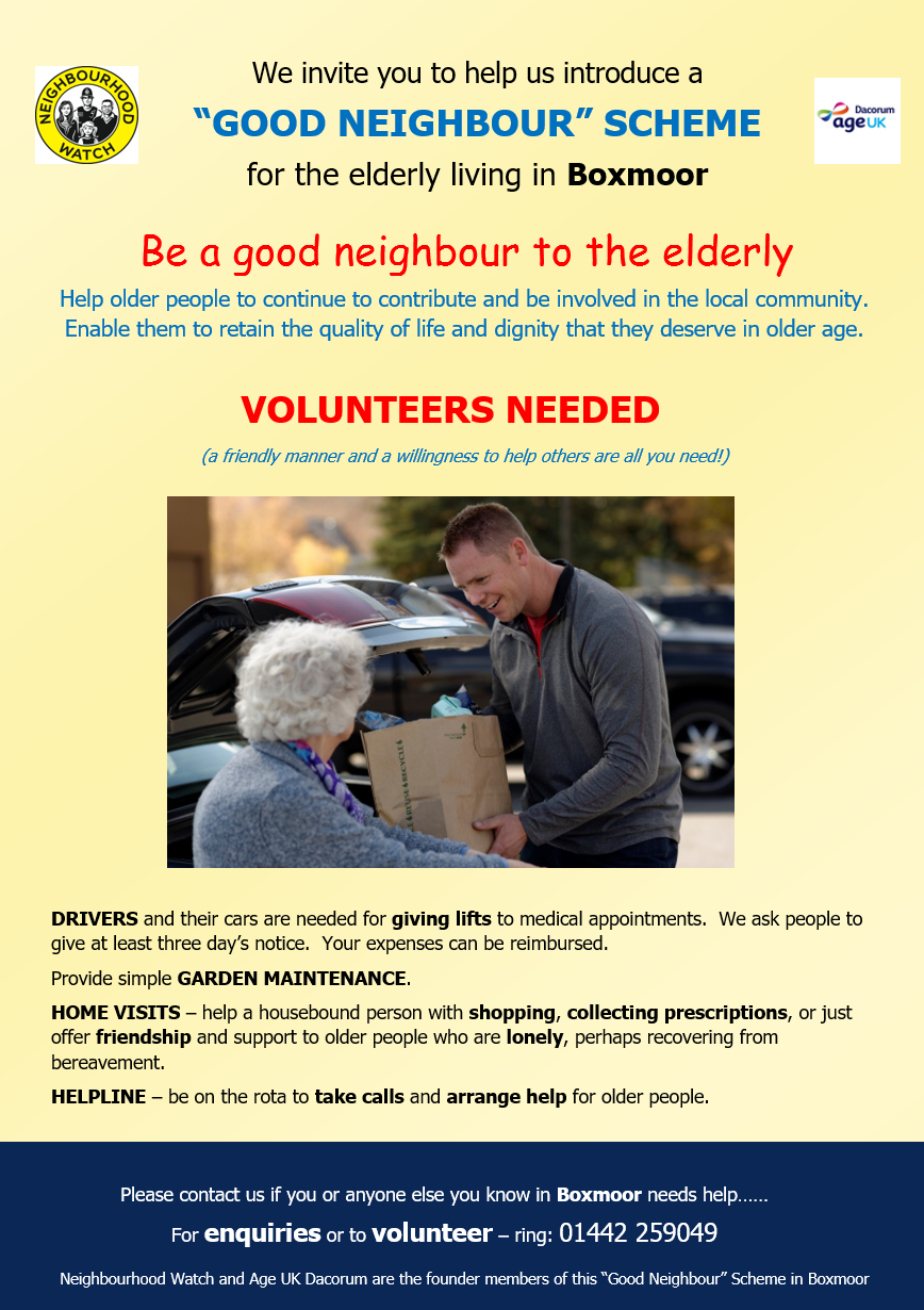 Good Neighbour leaflet
