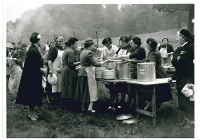 Old People's Welfare Committee in July 1958 at Chatsworth