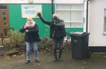 Couple dancing at the Chaddesden Centre