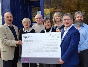 Age UK DD sign the Dyting To Work charter