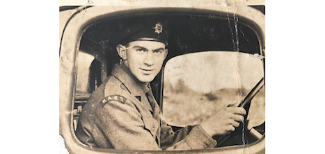 Image of soldier in a truck
