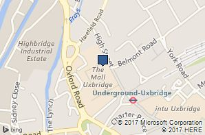 Location map for Uxbridge Information and Advice Centre