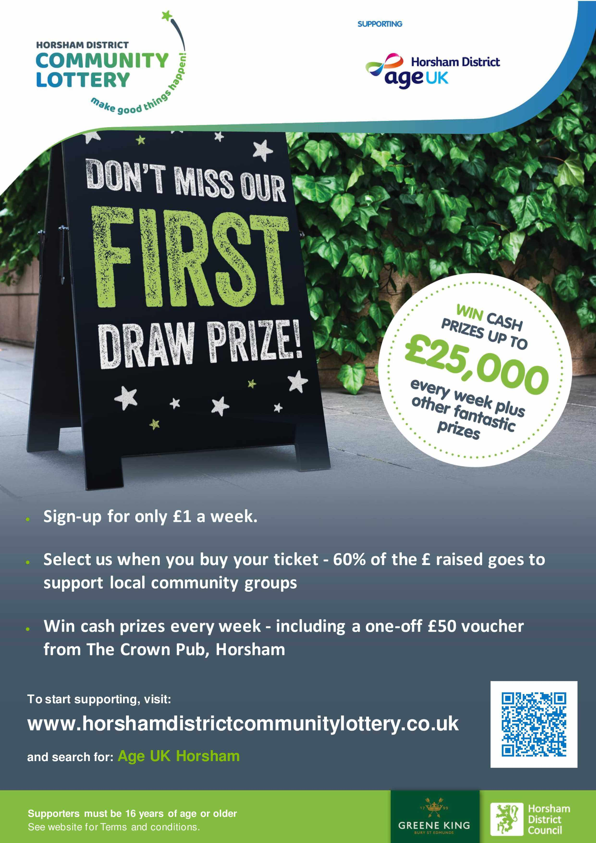 Horsham District lottery