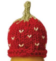 Strawberry bobble hat. Advanced pattern.