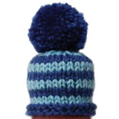 Blue stripey hat. Intermediate pattern.