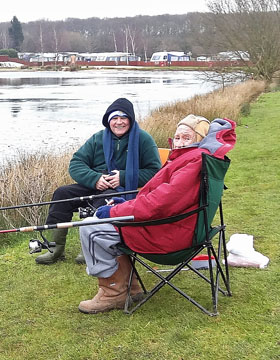 Pete and Harry out fishing