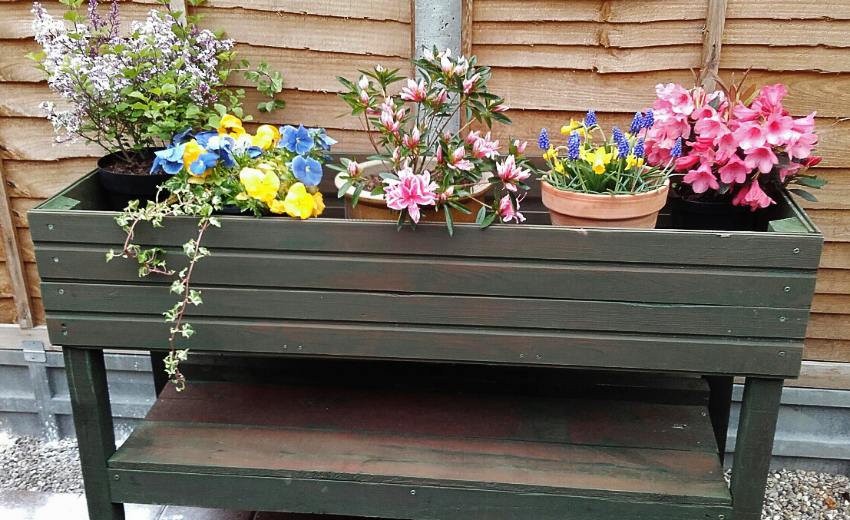 "A lovely planter create by one of our ""shedders"" in the Charnwood Shed"