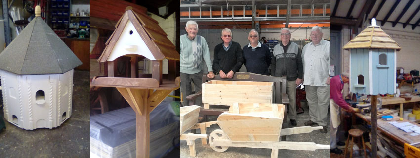 A Montage of items produced by Men in Sheds Rutland