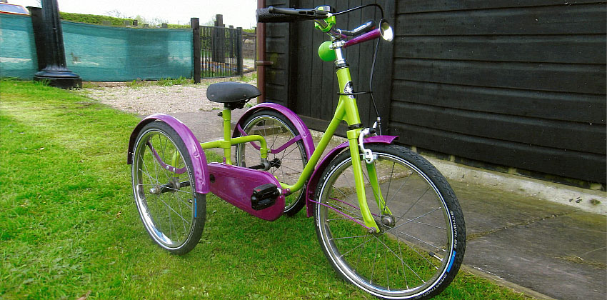 A beautiful trike that one of the women has made