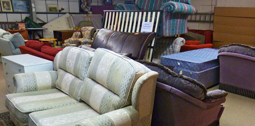A selection of furniture at our warehouse