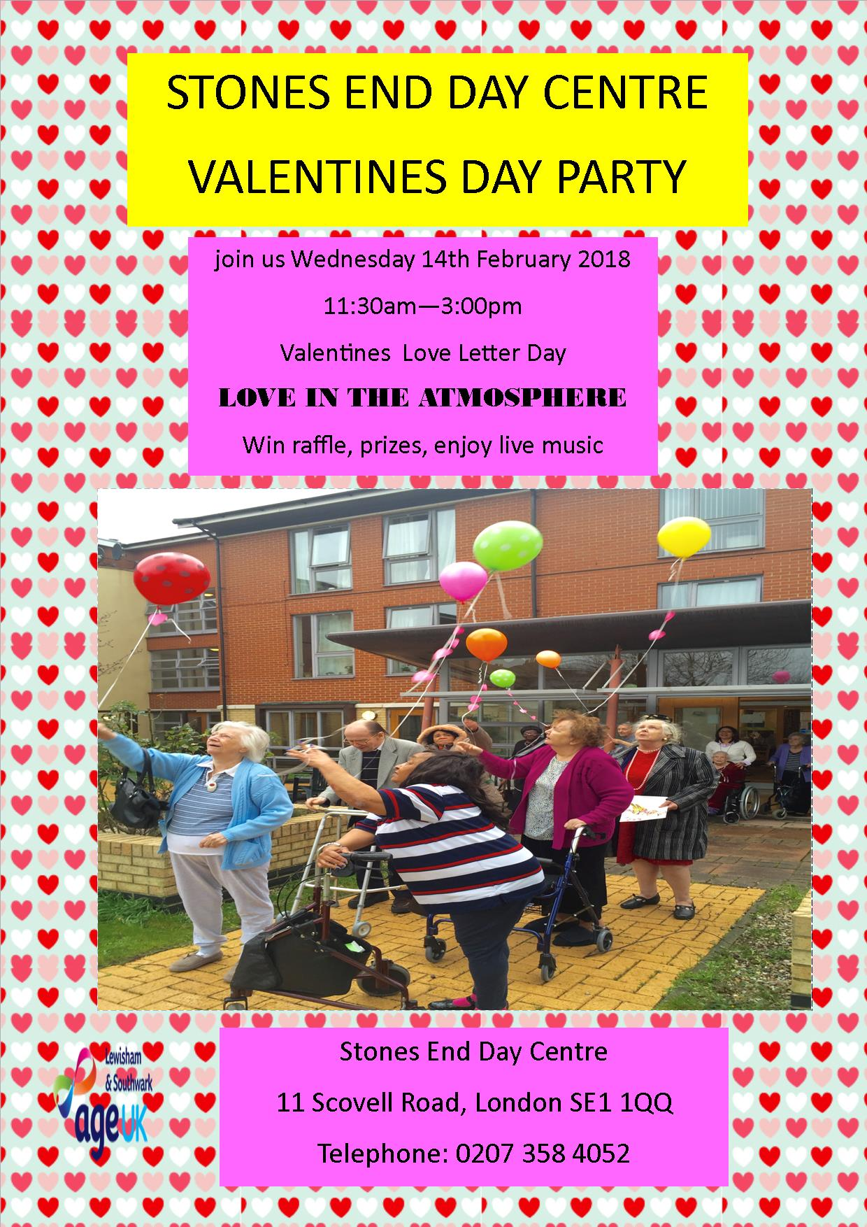 Stones End Day Centre Valentines Day Party