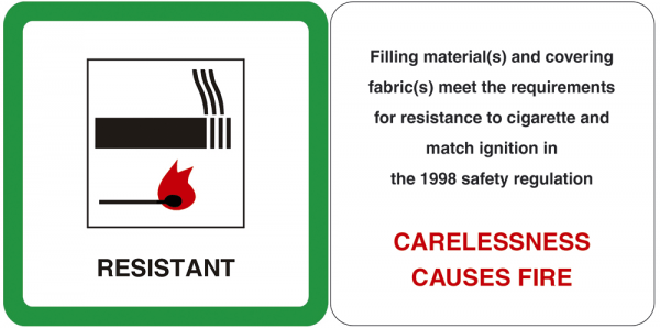 Fire resistant label - Carelessness causes fire