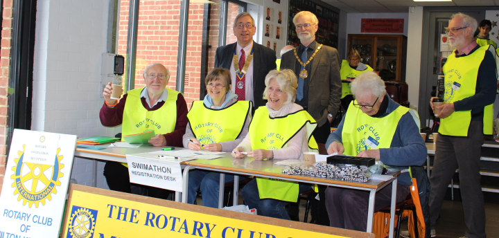 Some of the MK Rotary Club team and the Mayor of Milton Keynes