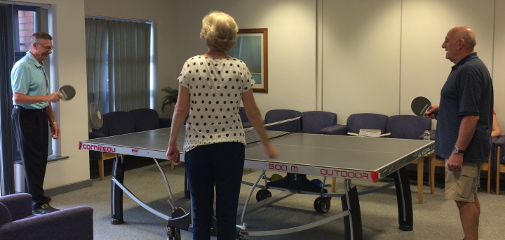 Pat re-discovers he is pretty good at table tennis!