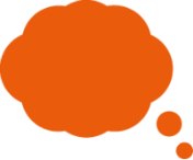 Icon of an orange thought bubble