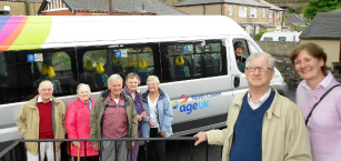 Age UK North Craven minibus and passengers
