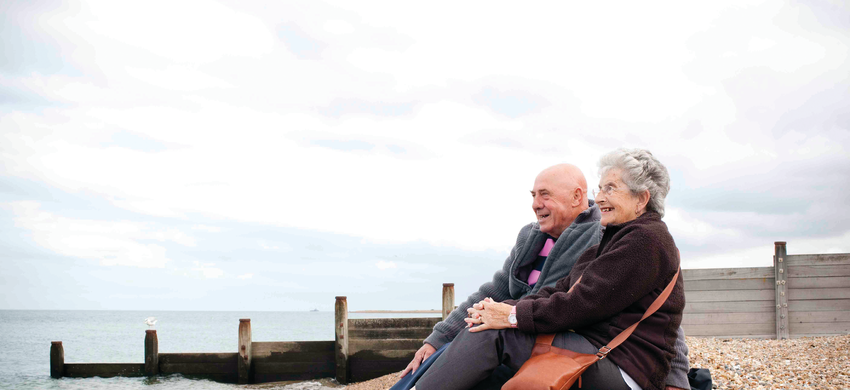 Older couple at the coast