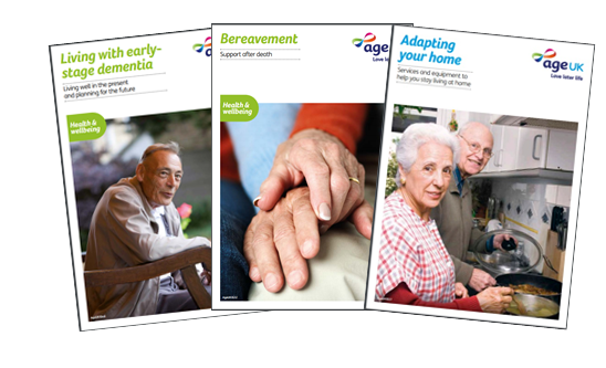 Three information guides by Age UK national