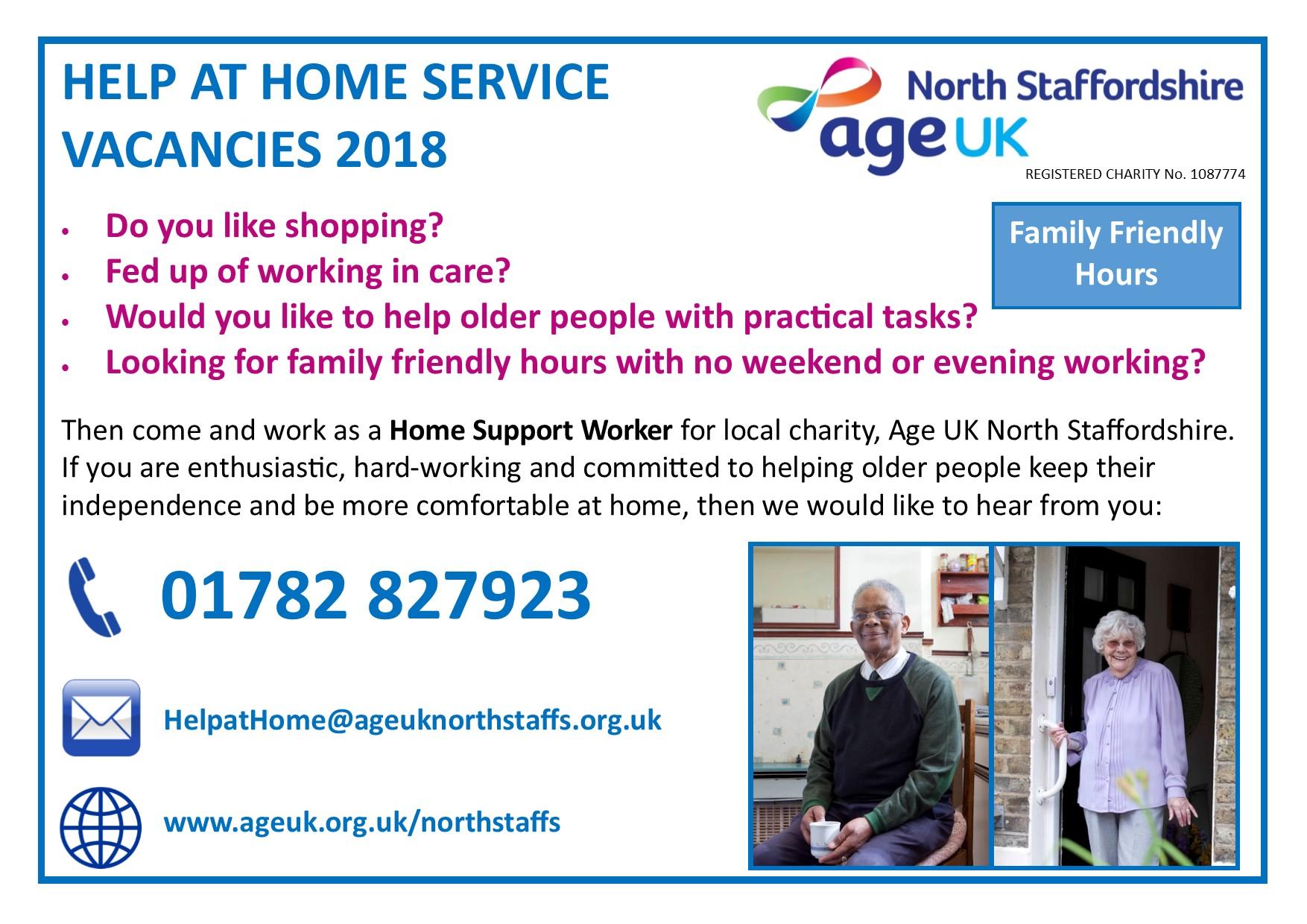 age uk north staffs waged positions