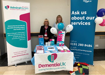 Admiral nurses at Age UK stand