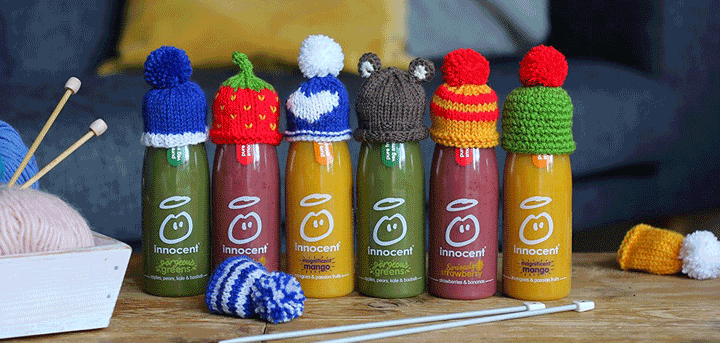 Bottles with hats