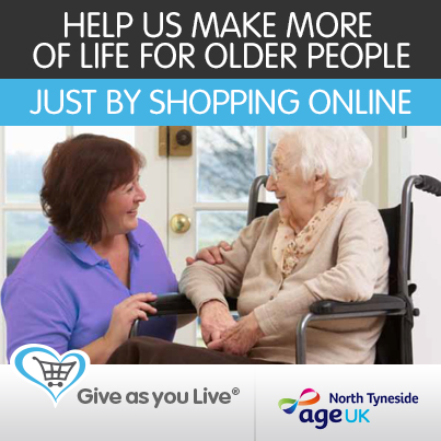 Give as you live to help Age UK North Tyneside