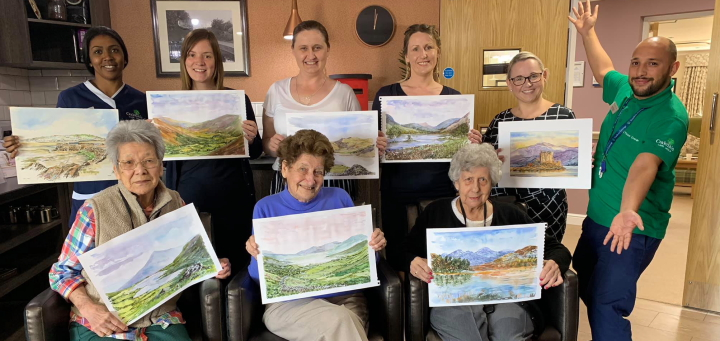 Residents and staff enjoyed a special art class