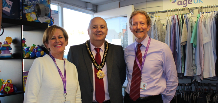 Manager Diana welcomed the Mayor and Chief Executive Chris
