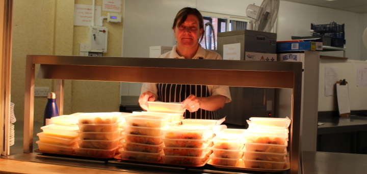 Freshley prepared in The Venton Centre kitchen