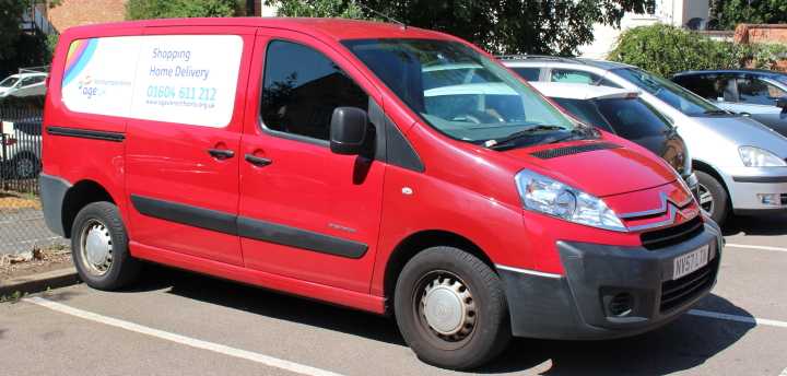 We have two vans for deliveries