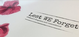 The cover of the Lest WE Forget book
