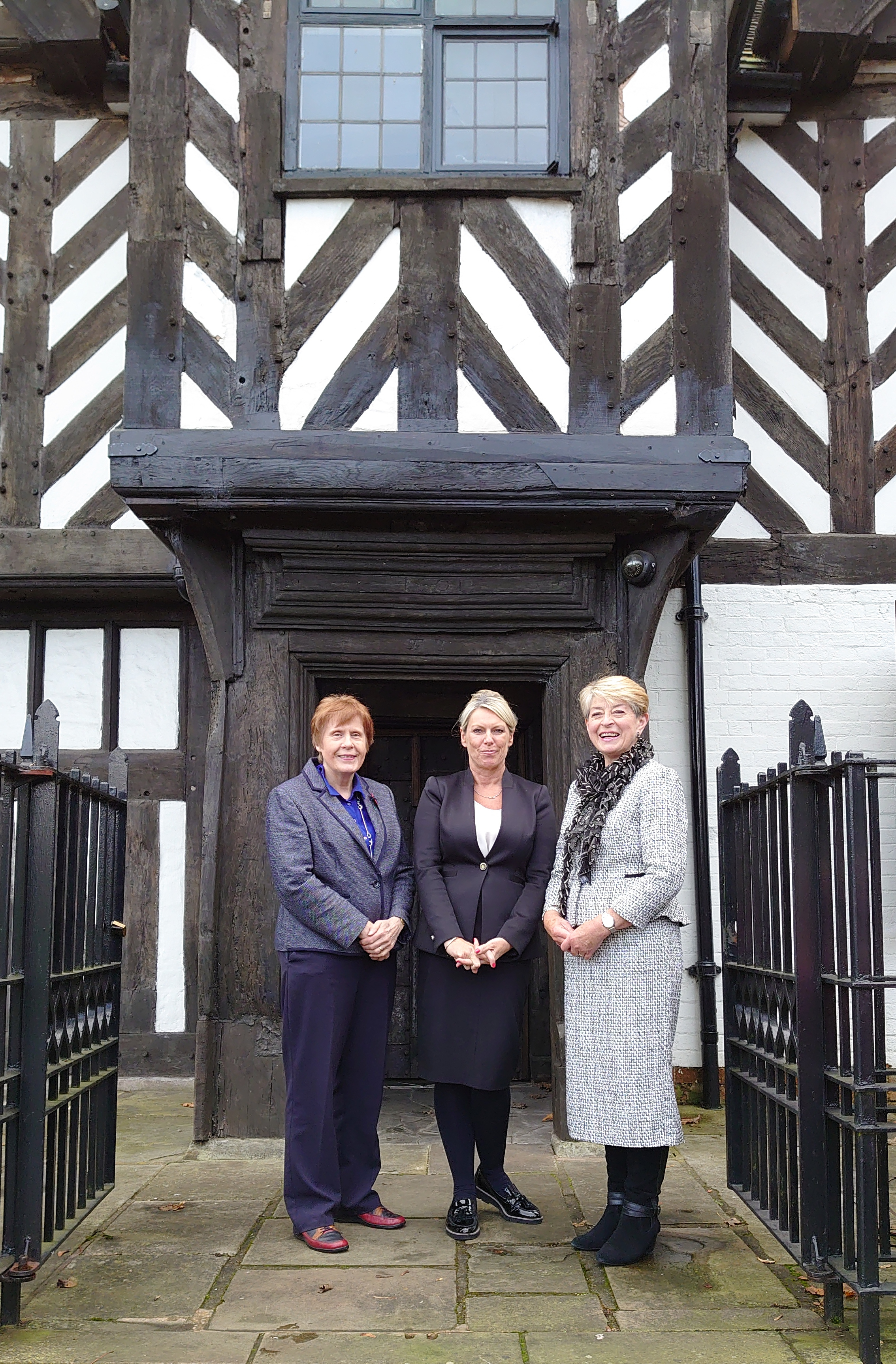 Elizabeth Phillips OBE, Alison Beachim and Kay Alexander MBE at Stratford House