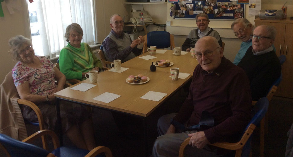 Group of older people at Age UK Sheppey