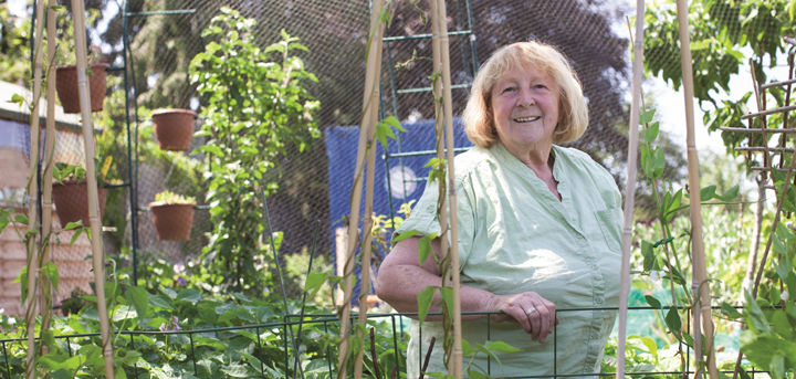 Woman in an allotment
