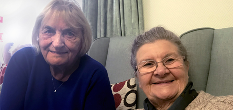Day centre members Ethel and Marion