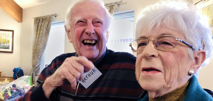 Dementia support group members Arthur and Sandra