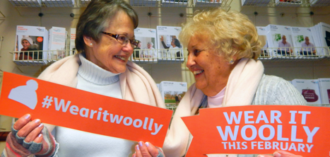 Age UK Shropshire Telford & Wrekin volunteers taking part in Wear it Woolly
