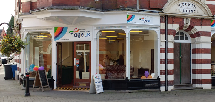 Age UK Shropshire Telford & Wrekin's charity furniture shop in Wellington