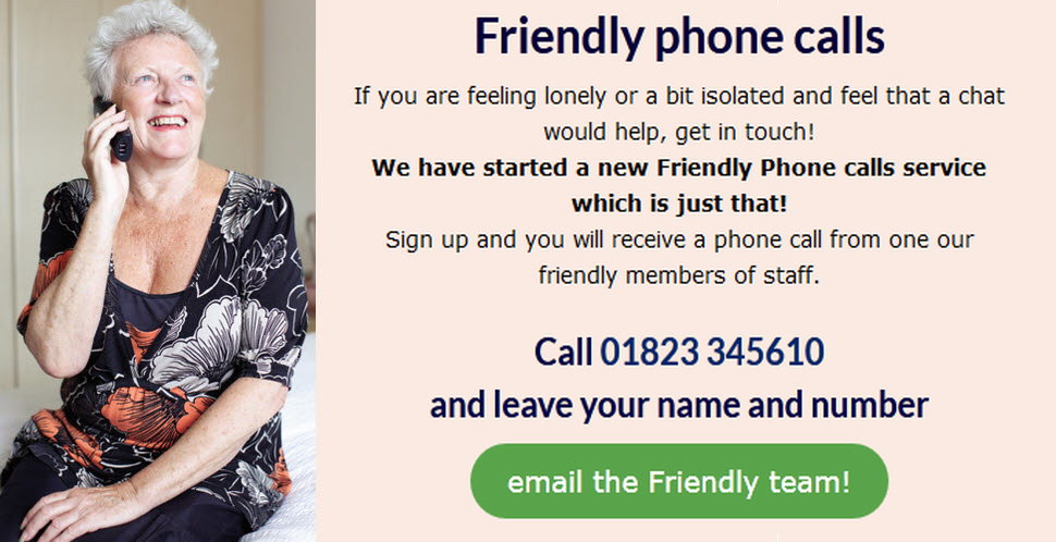 Register for a Friendly Phonecall