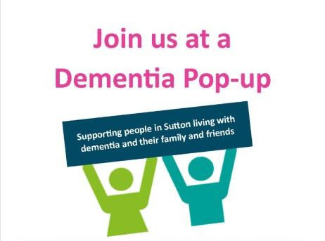 dementia pop up hubs text and icons