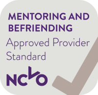 NCVO Mentoring and Befriending Approved Provider Standard logo