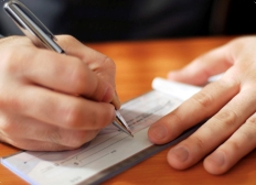 image of cheque writing
